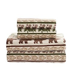Living Quarters Cold Weather Fleece Ultra Warm Sheet Set - Bear Print