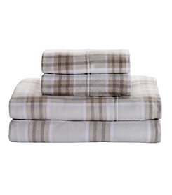 Living Quarters Cold Weather Fleece Ultra Warm Sheet Set - Windowpane Print