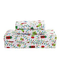 Living Quarters Heavy-Weight Flannel Sheet Set - Holiday