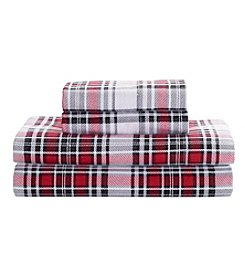 Living Quarters Heavy-Weight Flannel Sheet Set - Plaid Holiday