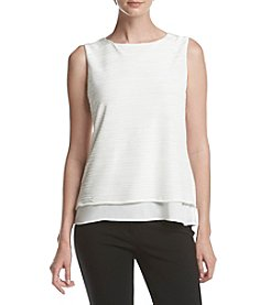 Calvin Klein Crinkle Layer Blouse