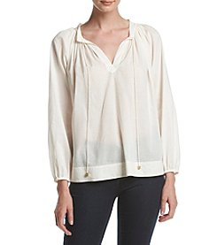 MICHAEL Michael Kors® Raglan Sleeve Tie Neck Top
