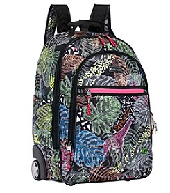 sakroots™ by The Sak® Artist Circle Black Wild Life Rolling Backpack