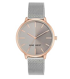 Nine West® Women's 40mm Two-Tone Mesh Strap Watch