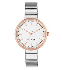 Nine West® Women's 36mm Two-Tone Bracelet Watch
