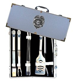 Siskiyou American Heroes Police 8-Piece BBQ Set with Hard Case