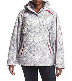Below Zero Plus Size Printed Stadium 3-in-1 Systems Coat