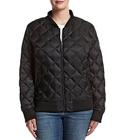 32 Degrees Plus Size Quilted Bomber Jacket