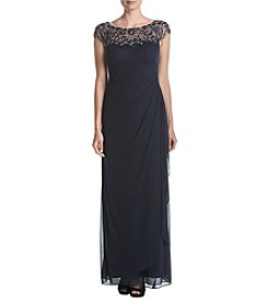 Xscape Beaded Ruched Top Dress