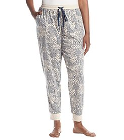 KN Karen Neuburger Plus Size Geometric Pattern Jogger Pants