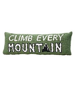 Ruff Hewn Climb Every Mountain Pillow