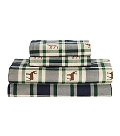 Living Quarters Heavy-Weight Flannel Sheet Set - Lodge Plaid