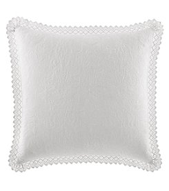 Laura Ashley® Solid Crochet Trim Euro Sham