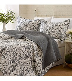 Laura Ashley® Amberley Biscuit Quilt and Sham Set