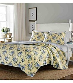 Laura Ashley® Linley Quilt and Sham Set