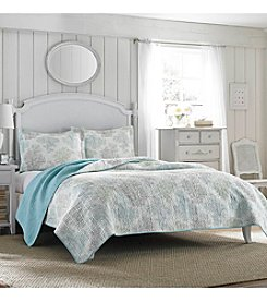 Laura Ashley® Saltwater Quilt and Sham Set