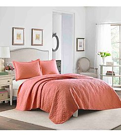 Laura Ashley® Solid Quilt Set