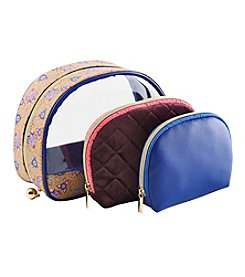 Tricoastal Set Of 3 Floral Domed Cosmetic Bags