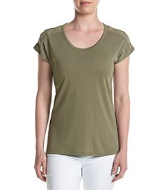 MICHAEL Michael Kors® Petites' Lacing Shoulder Top