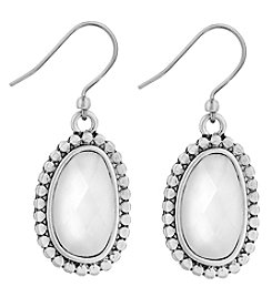 Lucky Brand® Faux Pearl Oval Drop Earrings