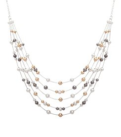 Nine West® Multi Row Necklace