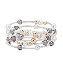 Nine West® Five Row Stretch Bracelet Set