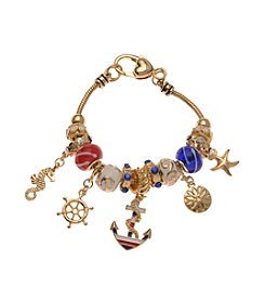 L&J Accessories Anchor Charm Bracelet