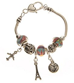 L&J Accessories Travel Charm Bracelet