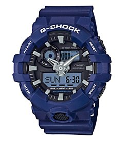 G-Shock® Blue On Black Analog Digital Watch