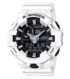 G-Shock® Black And White Analog Digital Watch