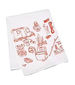 Girls Can Tell gift co. Camping Tea Towel