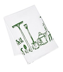 Girls Can Tell gift co. Garden Tools Tea Towel
