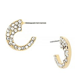 Jessica Simpson Side Pave Hoop Earrings