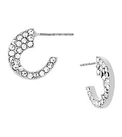 Jessica Simpson Side Pave Small Hoop Earring