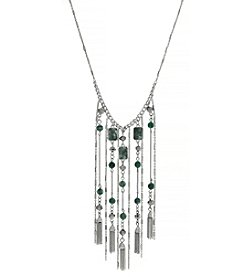 Jessica Simpson Multi Chain Tassel Necklace