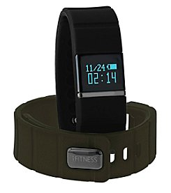 iTouchless Men's iFitness Black/Olive Activity Tracker