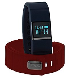 iTouchless Men's iFitness Navy/Red Activity Tracker