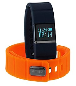 iTouchless Men's iFitness Navy/Orange Activity Tracker
