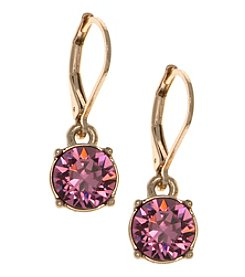 Gloria Vanderbilt™ Goldtone Leverback Drop Earrings