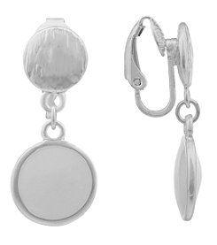 Gloria Vanderbilt™ EZ Comfort Clip Disc Drop Earrings