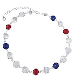 Gloria Vanderbilt™ Red, White and Blue Collar Necklace