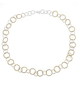 Gloria Vanderbilt™ Open Circle Link Collar Necklace