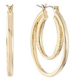 Gloria Vanderbilt™ Large Double Clicktop Hoop Earrings