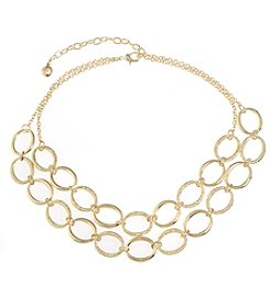 Gloria Vanderbilt™ Open Oval Link Double Row Necklace