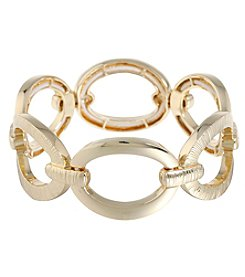 Gloria Vanderbilt™ Open Oval Link Stretch Bracelet