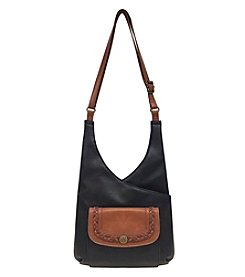 GAL Two Toned Crossbody With Braid And Medallion