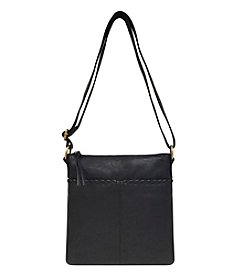 GAL Leather Whip Stitched Organizer Crossbody