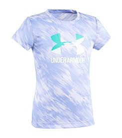 Under Armour® Girls' 2T-6X Short Sleeve Oasis Split Logo Tee