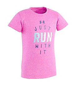 Under Armour® Girls' 2T-4T Short Sleeve Just Run With It Tee