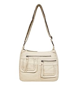 GAL Washed Braided Pocket Crossbody